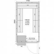 Mercatus ME1729C Walk in Chiller Room