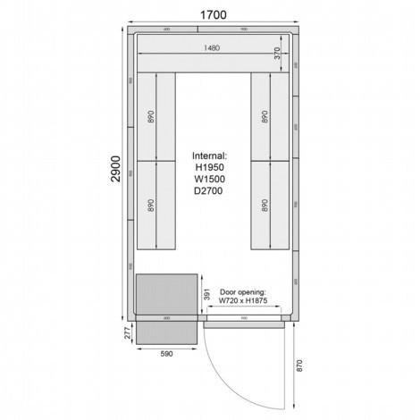 Mercatus ME2917F Walk in Freezer Room 3