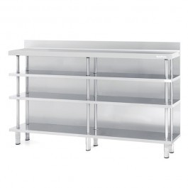 --- INFRICO ME60-2500 --- Deep Back Bar 4 Tier Shelving with Upstand - W2452