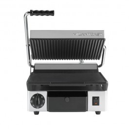 Maestrowave MEMT16001XNS Ribbed Top Flat Bottom Non Stick Contact Grill