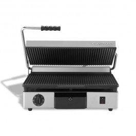 Maestrowave MEMT16031X Ribbed Top Flat Bottom Large Single Contact Grill
