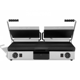 Maestrowave MEMT16050XNS Non Stick Ribbed Double Contact Grill