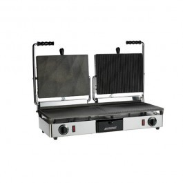 Maestrowave MEMT16051X Half Ribbed Half Flat Double Contact Grill