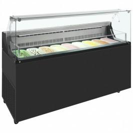 --- FRAMEC MIRABELLA 7 7 Pan --- Scoop Ice Cream Display with Understorage