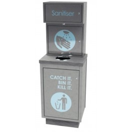 Moffat SDCU Hand Sanitiser Unit with Removable Waste Bin