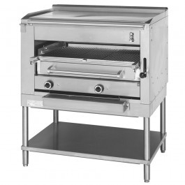 --- MONTAGUE EC-36-SHB-PL --- Overfired Gas Steakhouse Broiler with Plancha Top