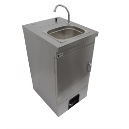 Parry MWBTD Heated Mobile Hand Wash Basin with Door