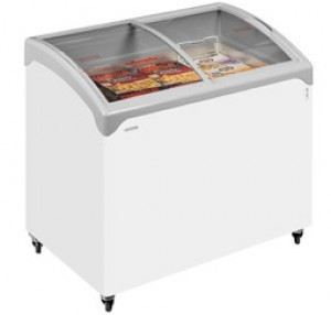 Tefcold NIC200SCEB Sliding Rounded Glass Lid Chest Freezer
