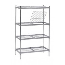 Craven 4NYM900-400 INFILL 4 Tier Nylon Shelving & Removable Pads D400mm