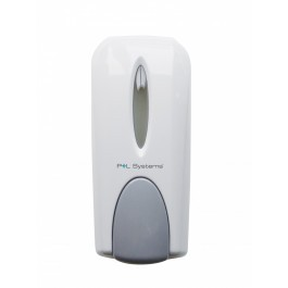 P+L Systems SDMW Manual Soap Dispenser in White or Chrome
