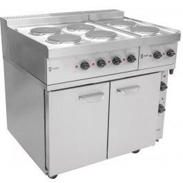Parry P9EO18701871 Fan Assisted Electric Oven with Six Electric Hobs