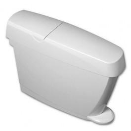 P+L Systems FHB15W White Feminine Hygiene Bin