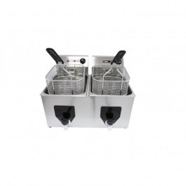 --- PARRY 2003 --- Twin 7 Litre Table Top Fryer with Drain Taps