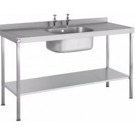 Parry SINK1260SBDD Single Bowl & Double Drainer Sink