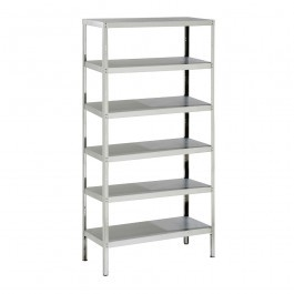 Parry RACK6S10500FP Stainless Steel Rack with 6 Shelves H2000 x D500mm