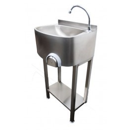 Parry CWBKNEES Stainless Steel Knee Operated Hand Wash Basin and Stand