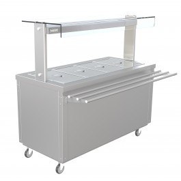 --- PARRY FLEXI-SERVE FS-HB4 --- Hot Cupboard with Dry Bain Marie Top
