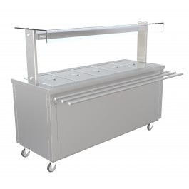 --- PARRY FLEXI-SERVE FS-HB5 --- Hot Cupboard with Dry Bain Marie Top