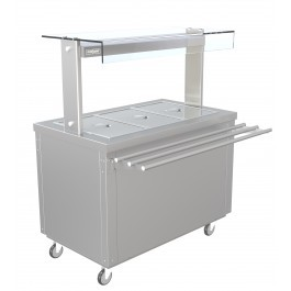 --- PARRY FLEXI-SERVE FS-HB3 --- Hot Cupboard with Dry Bain Marie Top