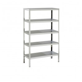 Parry RACK5S10600 Stainless Steel Rack with 5 Shelves - H1800 x D600mm