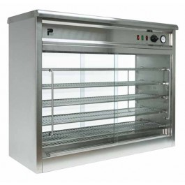 Parry PC140G Large Electric Heated Pie Cabinet with Glass Back