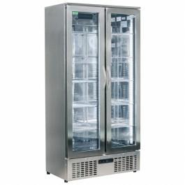 Interlevin PD220T SS Mirror Stainless Steel Bottle Cooler Double Door
