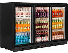 Interlevin PD30H Black Hinged Door Bottle Cooler