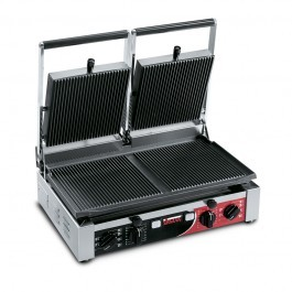 Sirman PD RR-RR T Large Double Ribbed Top & Bottom Panini Grill