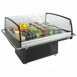 Tefcold PDC125 Glass Impulse Cooler / Spider Fridge in Black