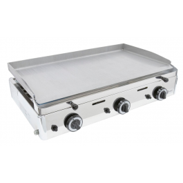 Parry PGF800G Stainless Steel Griddle with 3 Natural or LPG Gas Burners