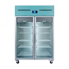 LEC Medical PGR1200UK Glass Door Upright Pharamacy Refrigerator - 1200 Litres