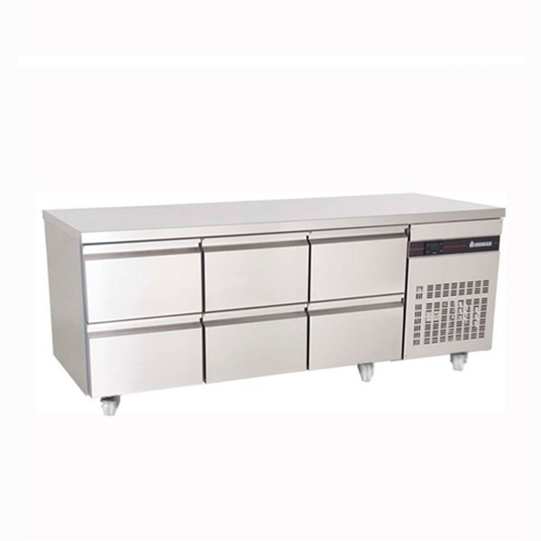 Inomak PN222-ECO Gastronorm 1/1 Counter with 6 Drawers - 429 Litre