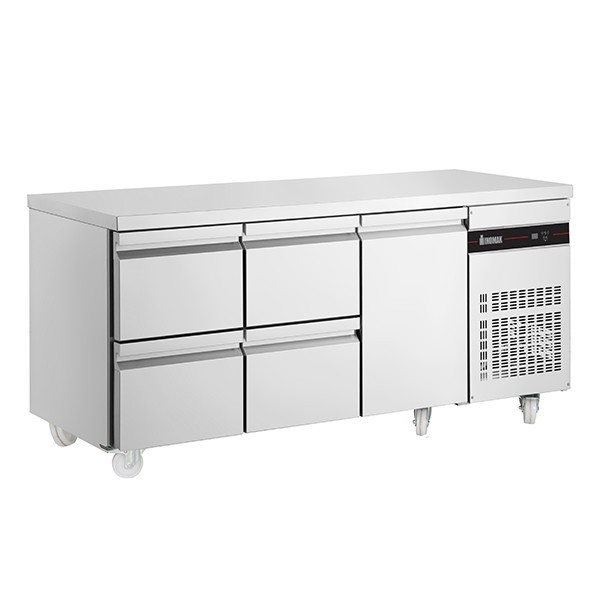 Inomak PN229-ECO Gastronorm 1/1 Counter with 1 Door, 4 Drawers - 429 Litre