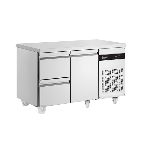 Inomak PN29-ECO Gastronorm 1/1 Counter with 1 Door, 2 Drawers - 274 Litre