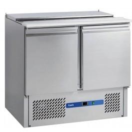 --- PRODIS EC-2SALAD --- Compact Gastronorm 2 Door Saladette Counter