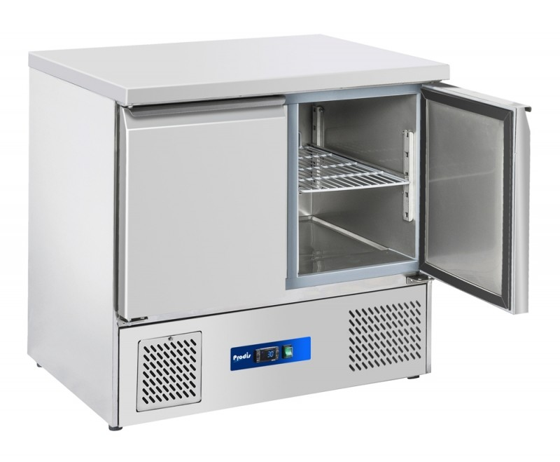 --- PRODIS EC-2SS --- Compact Gastronorm 2 Door Counter Fridge