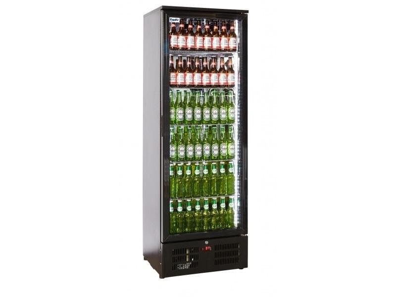 --- PRODIS NT10-HC --- Hinged Single Door Upright Black Bottle Cooler