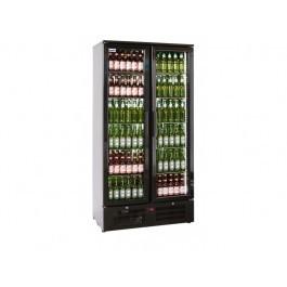 Prodis NT20-HC Hinged Double Door Upright Black Bottle Cooler