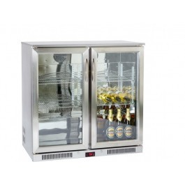 --- PRODIS NT2ST-HC --- Hinged Double Door Stainless Steel Bottle Cooler