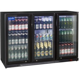 Prodis NT3BH Hinged Triple Door Black Bottle Cooler