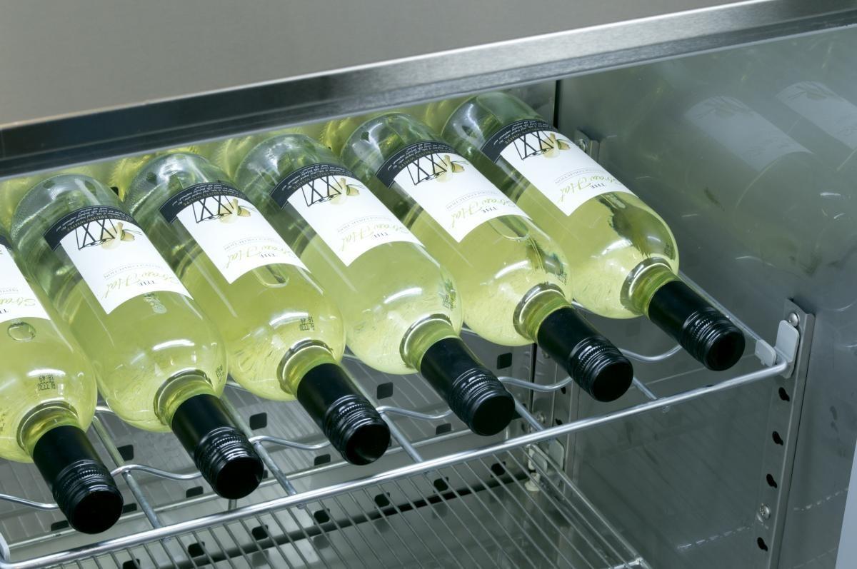 Prodis NTSHELF13 Chrome Scalloped 6 Bottle Wine Shelf