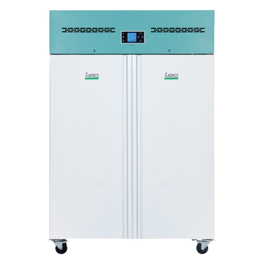 LEC Medical PSR1200UK Solid Door Upright Pharamacy Refrigerator - 1200 Litres