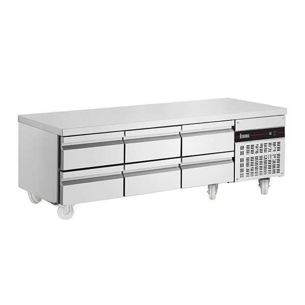 Inomak PWN333-HC Low Height Snack Counter 620mm with 6 Drawers - 246 Litres