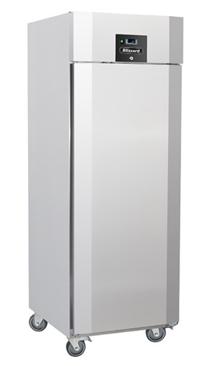 Blizzard QR7 Upright Stainless Steel Ventilated GN 2/1 Meat Fridge - 550L
