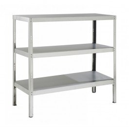 Parry RACK3S10300 Stainless Steel Rack with 3 Shelves - H1200 x D300mm