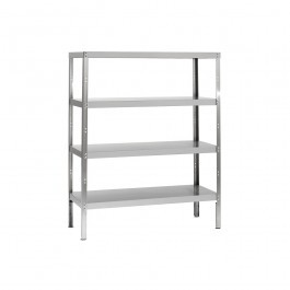 Parry RACK4S10300FP Stainless Steel Rack with 3 Shelves H1500 x D300mm