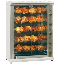 Roller Grill RBG200 Gas Infrared Rotisserie with Five Spits
