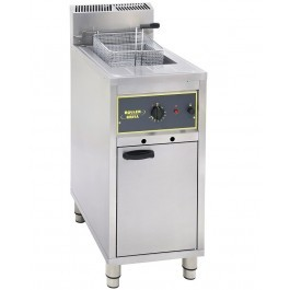 Roller Grill RFG16 Single Tank Freestanding Gas Fryer with Drain Tap