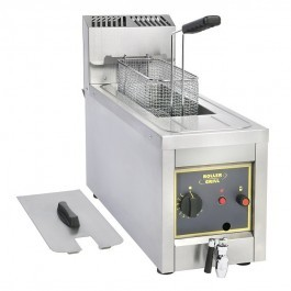 Roller Grill RFG8 Countertop Gas Fryer with Drain Tap