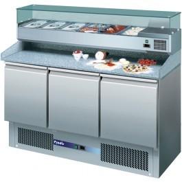 --- PRODIS EC-3PIZZA --- Compact Gastronorm 3 Door Pizza Prep Counter